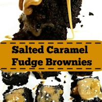 Salted Caramel Fudge Brownies